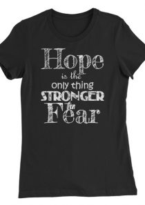 Hope is the only thing Stronger – Women's Slim Fit T-Shirt