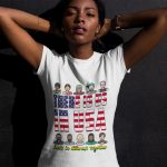 beautiful-dark-girl-in-white-there-is-us-shirt-placeit
