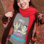 baby-boomers-t-shirt-mockup-of-a-woman-taking-a-selfie-in-fall-30112
